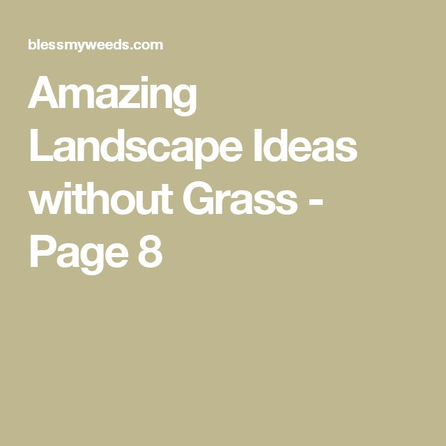Amazing Landscape Ideas without Grass - Page 8