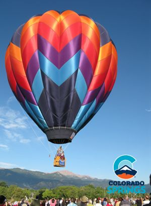 Take a hotair balloon ride about the beauty of the Colorado Springs
