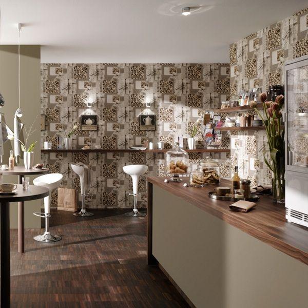 Papel pintado para decoraci n de cocinas y ba os aquadeco - Papel pintado para el bano ...