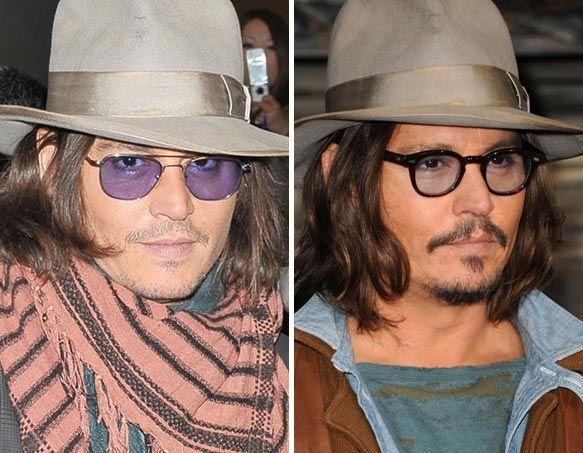 John Depp facial hair