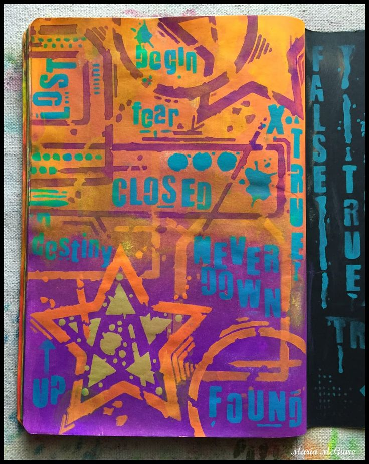Believe Dream Create with Maria: Art Is Therapy Playing with Stencils from Seth Apter