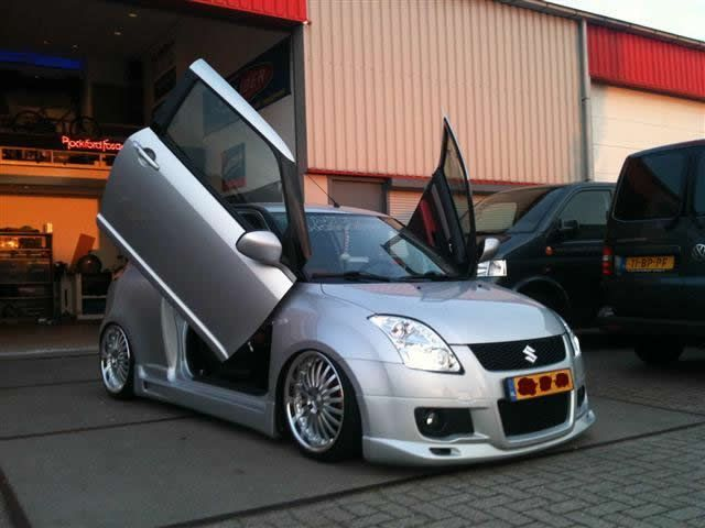 Modified Suzuki Swift!  Whether you're interested in restoring an old classic car or you just need to get your family's reliable transportation looking good after an accident, B & B Collision Corp in Royal Oak, MI is the company for you!  Call (248) 543-2929 or visit our website www.bandbcollisioncorp.net for more information!