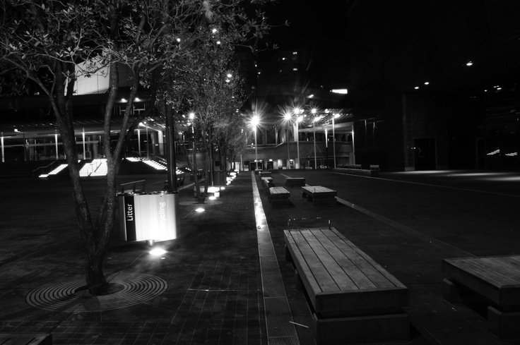 Aotea Square at night by Ashish Bijwe.