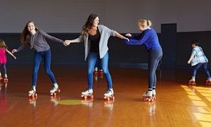 Clients can visit the roller rink five times to skate for fun or a group of five can skate together during a three-hour session