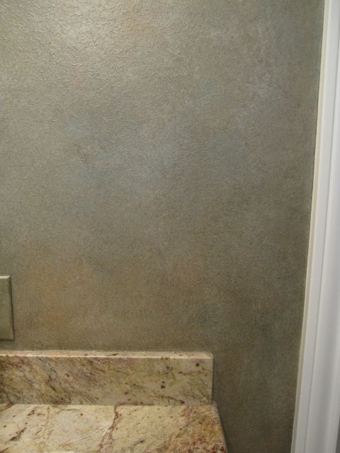 Master Bath Metallic Wall Glazing - Close up