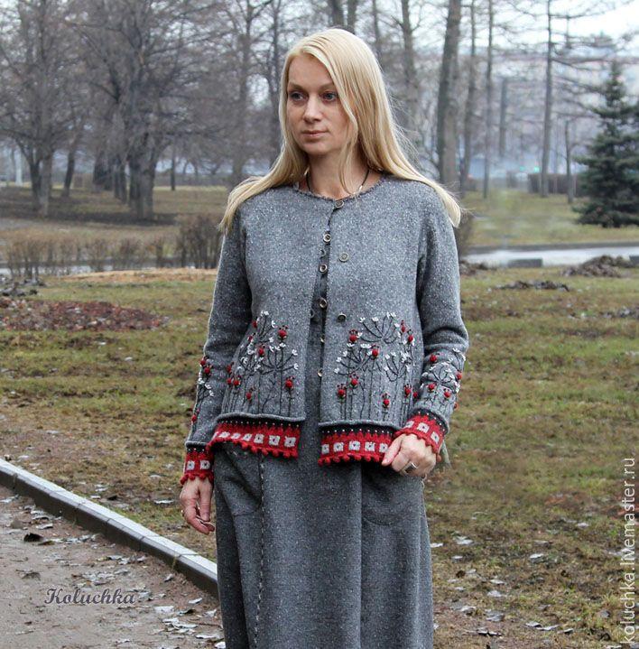 Купить Кофта в ягодку. - вязаная кофта, женская одежда, бохо стиль, мода 2017, koluchka