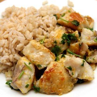 Citromos-vajas sült hal recept