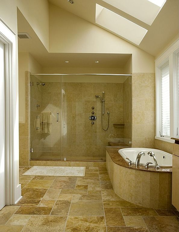 Gallery Website View this Great Rustic Master Bathroom with Frameless shower door u Whirpool Bathtub by Jane Frederick Discover u browse thousands of other home design