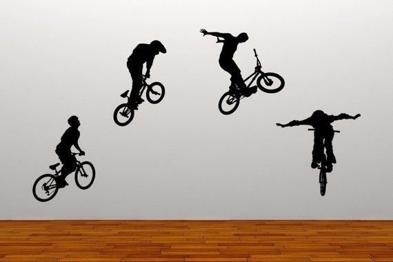 Bike Tricks For Kids Bikers Bike Tricks Vinyl Wall
