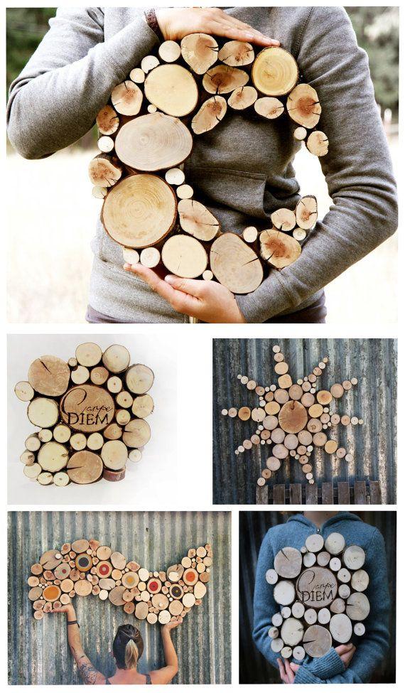 Régénéré décor bois lune Sculpture mariage par WildSliceDesigns