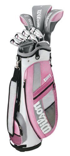 Wilson Golf Hope Platinum Ladies Complete Golf Set by Wilson. $299.99. Amazon.com Offering a complete set of clubs at an affordable price, the Wilson Hope Platinum ladies golf set includes everything you need to hit the links with confidence. The set starts with an oversized 460cc titanium-composite driver with a tip-reinforced graphite shaft, giving you plenty of power when attempting to drive the green or carry the water. The set also includes ...