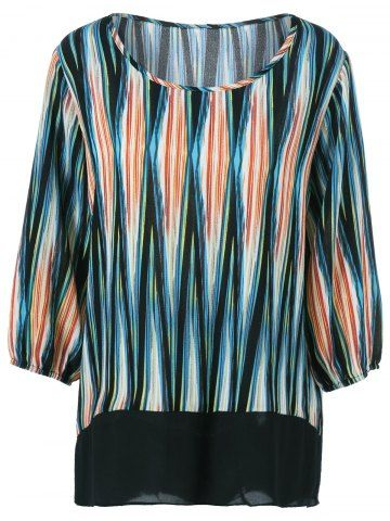 GET $50 NOW   Join RoseGal: Get YOUR $50 NOW!http://www.rosegal.com/plus-size-tops/plus-size-asymmetrical-striped-blouse-725948.html?seid=8002079rg725948
