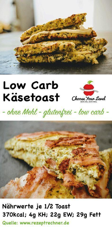 Low Carb Käse Toast - vegetarisch oder mit Bacon - Frühstückstoast mit wenig Kohlenhydraten - ohne Mehl - glutenfrei zubereitet Zutaten: Für die Toastbrote bzw. Sandwiches: 2 Zucchini 50g Kokosmehl 50g gemahlene Mandeln 50g Parmesan 2 große Eier 4-5 Blätter Basilikum 1 Prise Salz 1 Prise Pfeffer Für den Belag: 2 Scheiben Bergkäse 2 Scheiben Gruyere 2 Scheiben irischer Cheddar 8 Scheiben Bacon (optional) 20g Butter