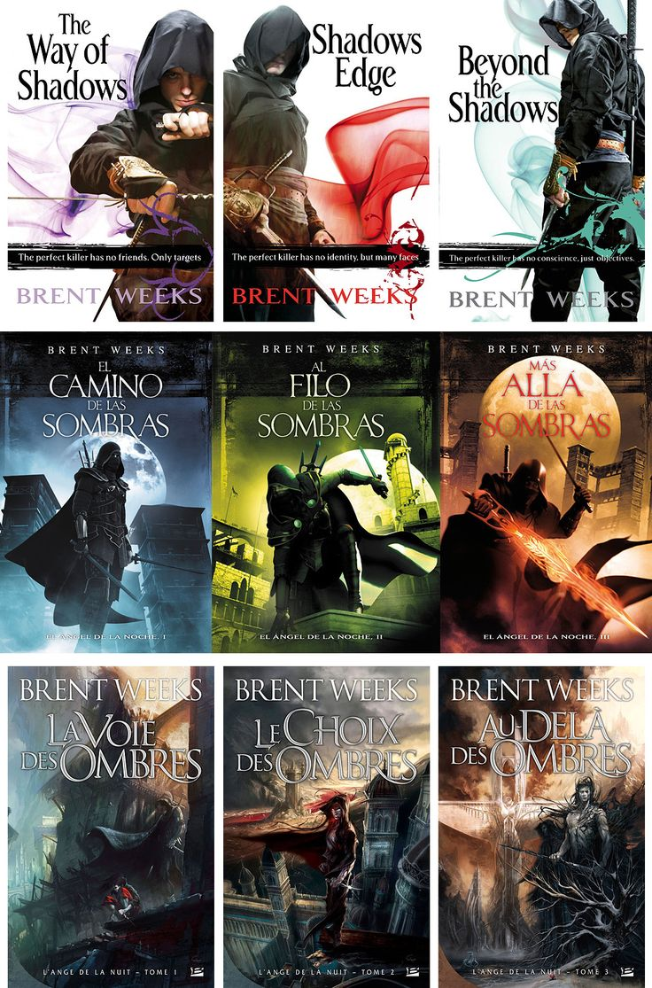 Brent Weeks - Night Angel~Want to read all of these! This website has a ton of interesting looking books.