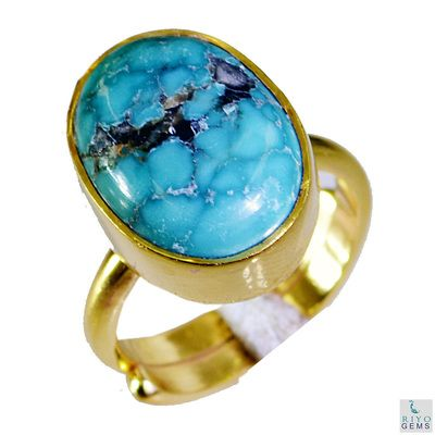 Riyo Turquoise Cheap Gold Plated Ecclesiastical Ring Sz 5 Gprtur5 82009 Rings on Shimply.com