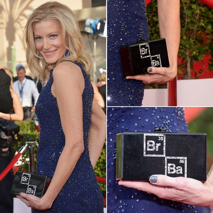 Anna Gunn gave a shoutout to Breaking Bad with her  clutch on the SAG Awards red carpet