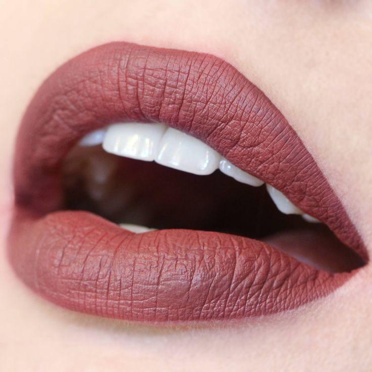 ColourPop's Ultra Matte Lip in Tulle. Love this darker nude.