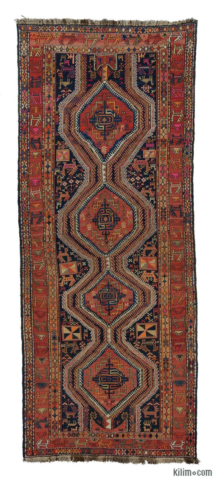 Vintage Caucasian Soumak Rug
