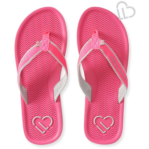 Aeropostale LLD Molded Flip-Flop ($5.99) ❤ liked on Polyvore featuring shoes, sandals, flip flops, pink sunset neon, fluorescent shoes, neon pink flip flops, pink flip flops, aeropostale flip flops and synthetic shoes