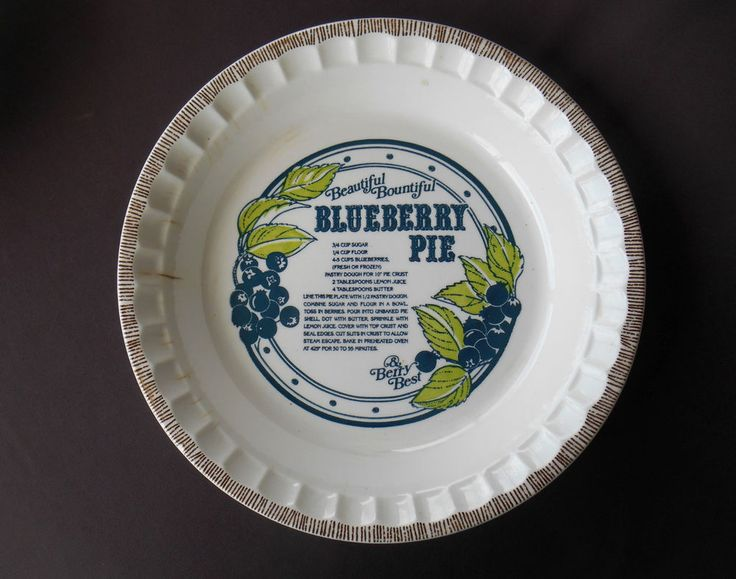 Vintage BLUEBERRY Pie Plate ROYAL CHINA w Recipe COUNTRY HARVEST 1983 BERRY BEST & 12 best Pie Plate Addiction!! images on Pinterest | Pie plate ...