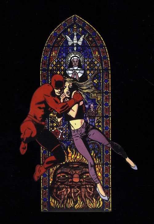 Daredevil and Karen Page byDavid Mazzucchelli