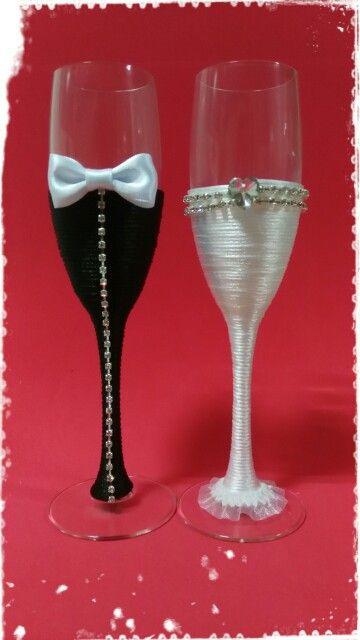 best 25 copas decoradas para boda ideas on pinterest. Black Bedroom Furniture Sets. Home Design Ideas