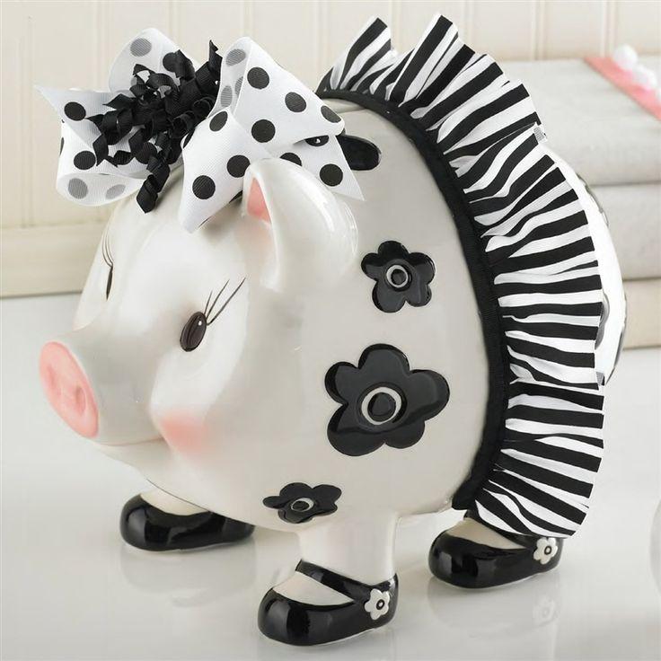 Cute piggy bank to match Berkley's room!