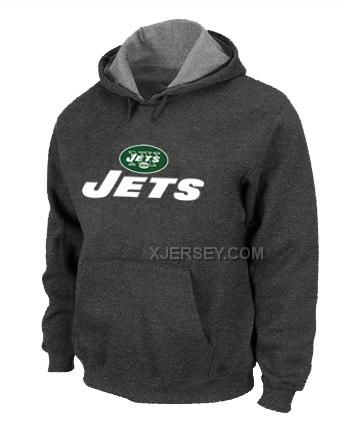 http://www.xjersey.com/new-york-jets-authentic-logo-pullover-hoodie-dgrey.html Only$50.00 NEW YORK JETS AUTHENTIC LOGO PULLOVER HOODIE D.GREY #Free #Shipping!
