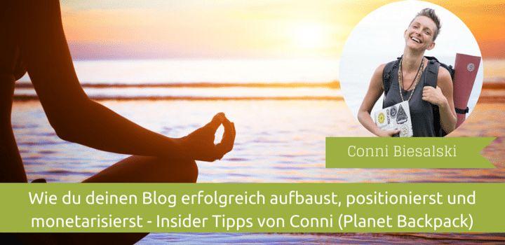 Conni von Planet Backpack über Blogaufbau, #Monetarisierung und Positionierung - #Sidepreneur Interview.