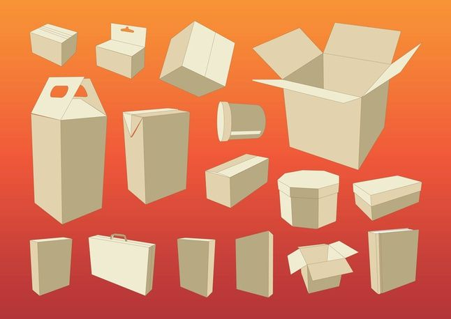 Free Cardboard boxes packaging vector art vector resources   from the storeroom @ POTW