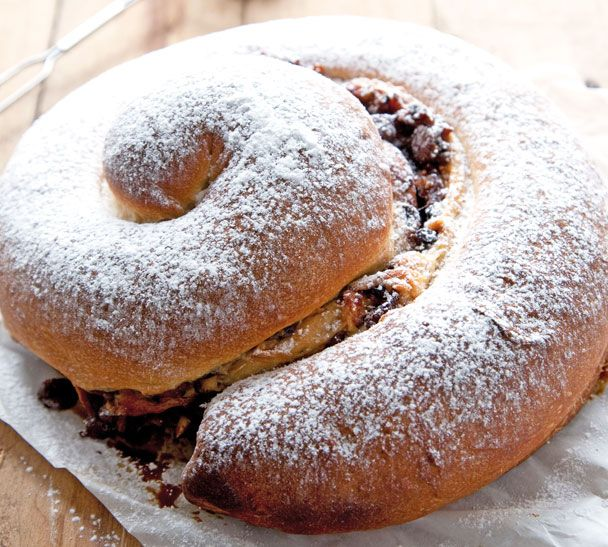 Festive Gubana - this rolled sweet bread is traditionally eaten at Easter and Christmas. See my website for the recipe http://www.annabel-langbein.com/recipes/festive-gubana/374/