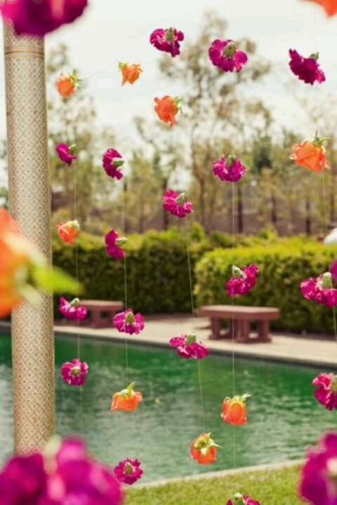 Indian wedding ceremony flowers