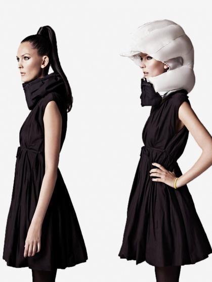 Hövding: Görünmez bisiklet kaskı, tasarım olarak giyilebilir bir airbag denebilir.