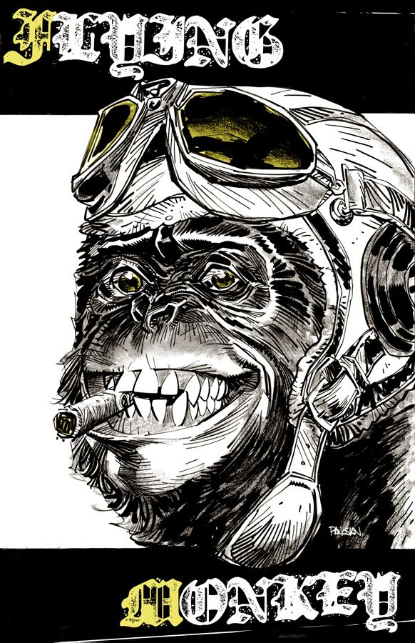 FLYING MONKEY print by urban-barbarian.deviantart.com on @deviantART