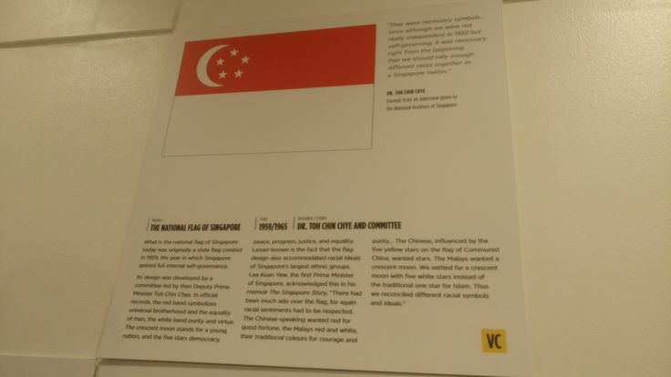 The creation of the Singapore Flag is very significant in the design history of Singapore as it was created in the year Singapore gained full internal self-governance. Also, the design accommodates the racial ideals of Singapore's largest ethnic groups and reconciled the different race symbols and ideals