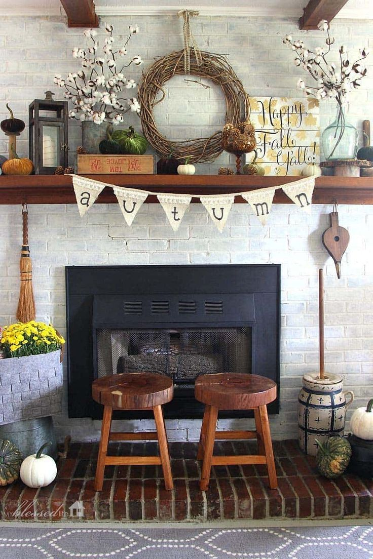 24 Awesome Fireplace Mantel Decor Ideas Home in 2020 ...