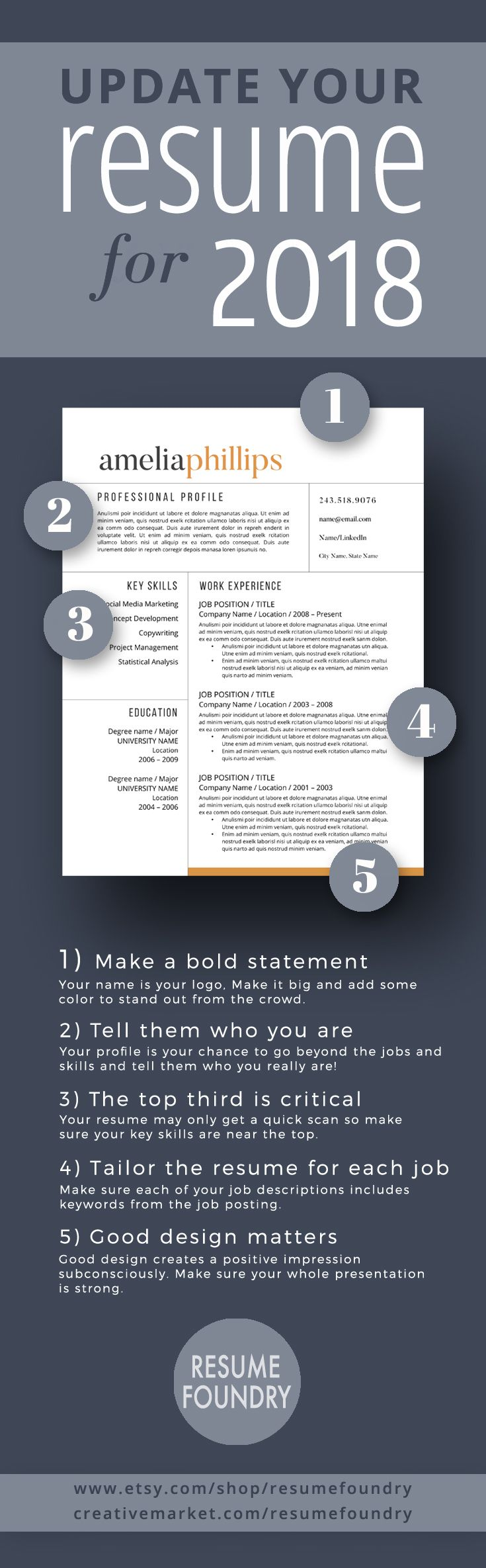making resume format%0A This resume template will standout from the sea of applicants  Instant  download