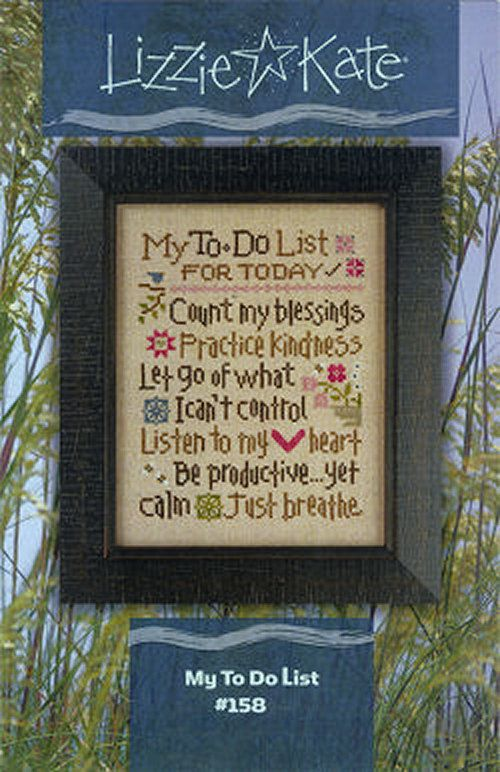 Lizzie Kate My To Do List 158 Counted Cross by DebiCreations, $7.99