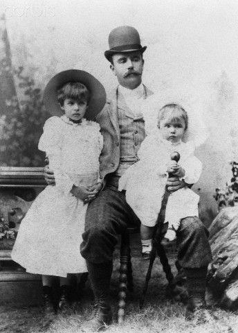 Portrait of Elliott Roosevelt, Eleanor Roosevelt and Elliott Roosevelt Jr.