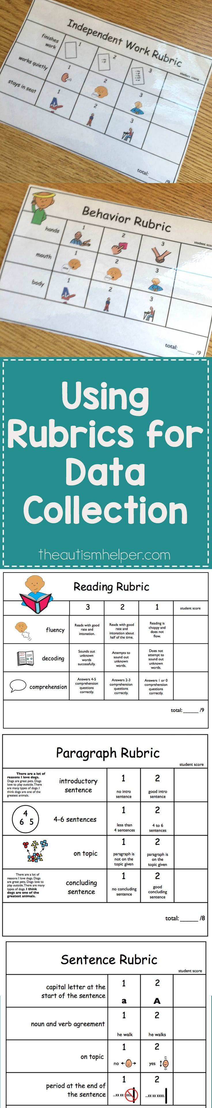 Learn why rubrics are so incredibly helpful on the blog! From theautismhelper.com #theautismhelper