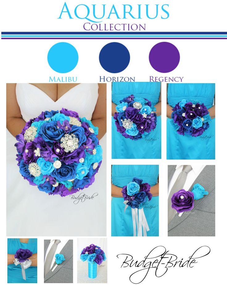 Davids Bridal Malibu Blue brooch Bouquet.  I'm so loving this blu