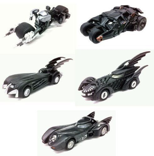 TAKARA TOMY TOMICA LIMITED BATMOBILE COLLECTION SET OF 5. Rubber Tyres