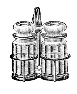 Vintage Vegetable Clip Art | Free vintage clip art images: Vintage salt and pepper clipart
