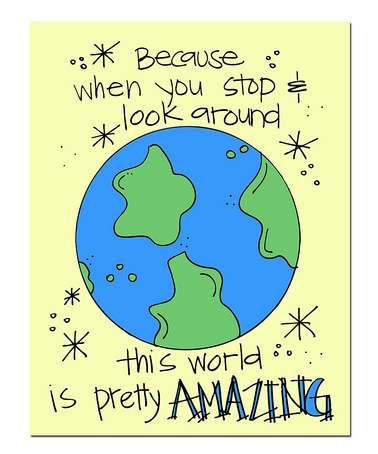 Take a look at this 'World' Print by Doodle Art Prints by Doodli-Do's on #zulily today!