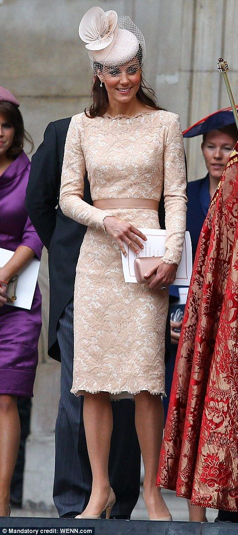 Catherine, Duchess of Cambridge - Jubilee Service of Thanksgiving. I know, big shock that I love this dress.