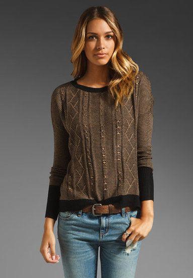 A Dressy Sweater: Jack by BB Dakota Hoz Acrylic Sweater Knit ($61)