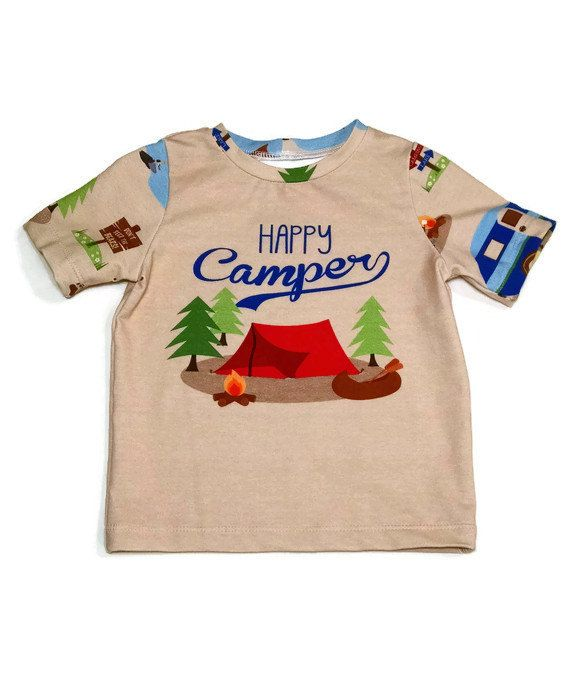 3T Happy Camper T-shirt for Toddlers  Camping by TiredMomSews