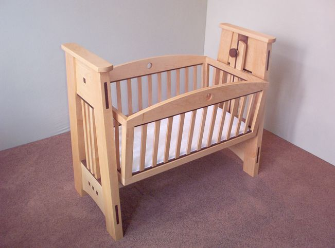 My Granddaughter's finished baby cradle ready for her arrival. side ...