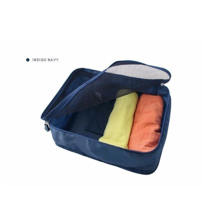 Foldable Portable Nylon Mesh Underwear Cosmetics Storage Bags For Clothes Travel Pouch Luggage Organizer Tidy Box