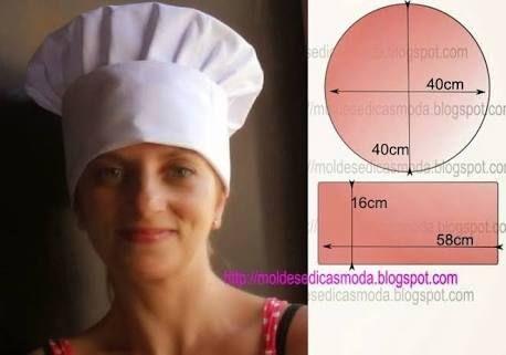 Resultado de imagem para como fazer chapéu de chef
